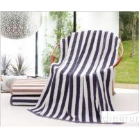 Plain Colored Zebra Striped Bath Towels Skin Care Machine Washable 70*140cm