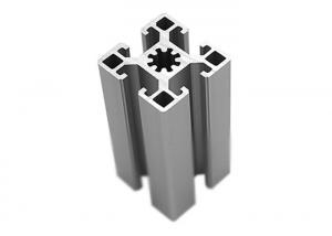 China Silver Anodized T Slot Aluminium Profile For Assembly Line 6mm / 8mm /10mm Slot Width on sale