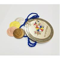 China Factory direct sale custom metal diamond shaped gold plated carnival medals with sandblastinggermany carnival medal , on sale