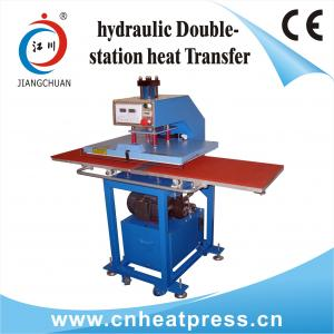 China Double machine fonctionnante AUTOMATIQUE hydraulique de presse de la chaleur de T-shirts de position on sale