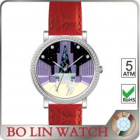 Stone - Finishing Dial Genuine Leather Watches For Girls Sapphire Glass Swiss Movement
