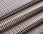 100% полиэстер Пряж-покрасило ткань памяти шотландки для одежд, курток и брюк