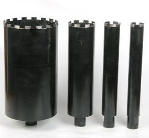 China Black Wet Diamond Core Drill Bit , Diamond Hole Saw For Reinforcement Concrete on sale