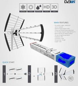 China High gain DVB-T2 outdoor uhf vhf tv Antenna Z4 for EUROPE market yaji antenna on sale