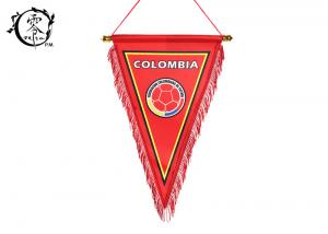China National Columbia Sublimation Printed Pennant Flags Polyester Fabric Country World Cup on sale