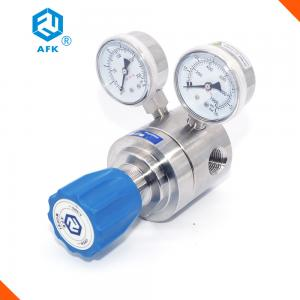 China Helium Natural Gas Stainless Steel Pressure Regulator Single Stage Cv Value 1.8 on sale