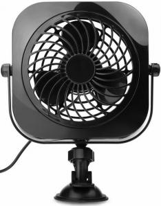China 4 inch USB Car/Vehicle and Desk Fan, Portable, Powerful And Quiet USB Fan With Suction Cup, Angle Adjustable ,Black With on sale