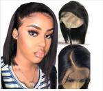 10 Inch Glueless Straight Full Lace Human Hair Wigs With Baby Hair Short