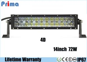 China 4D 14 Inch UTV LED Light Bar , 6000K - 6500K Cool White 72 Watt Waterproof LED Light Bar  on sale