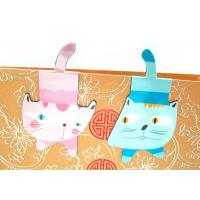 China Cat Shaped ChildrensCustom Magnetic Bookmarks with Synthetic Paper , 4C Offset Printing on sale