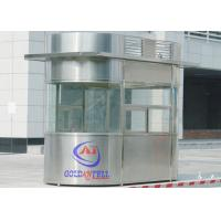 Custom Size Or Material Sentry Box Shed With Ticket Windows , Working Desk , Electricity , Light