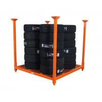 China Industrial Warehouse Storage Collapsible Two Level Heavy Duty Metal Tire Storage Rack / Tyre Rack on sale