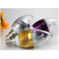 China 3pcs * 1W E27 Aluminum LED Candle Bulbs Epistar Chip With PC Cover on sale