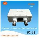 Ohmio BNC de FCTEL 75 120 al convertidor del balún de la impedancia del ohmio RJ45 E1