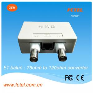 China FCTEL 75 Ohm BNC To 120 Ohm RJ45 E1 Impedance Balun Converter on sale