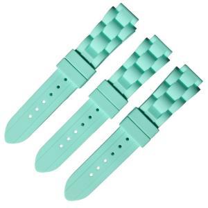 China Morden 22x16mm Wrist Watch Rubber Strap Tire Grain Design on sale