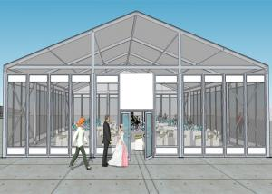 China Transparent Roof And Glass Wall  Luxurious Wedding Tents 15m By 35m Marquee on sale