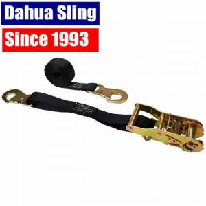 Quality OEM Quick Release Polyester Dahua Sling Cargo Strapping With Snap Hook for sale