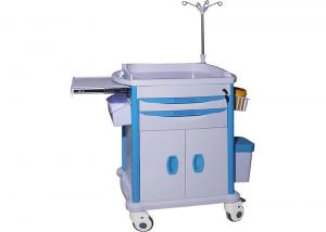China High Reliability Medical Storage Trolley With Defibrillator Platform / CPR Board on sale