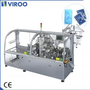 China Full Automatic Eyeglasses Cleaning Wet Wipes Production Line 80-120 Bags / Mins on sale