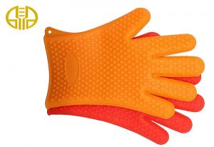 China FDA / LFGB impermeable Silicone Kitchenware Heat Resistant Cooking Gloves on sale
