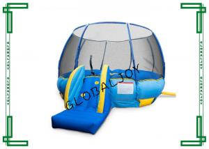China 4m Diameter Trampoline Inflatable Bouncers For Kids With Safe Netting on sale