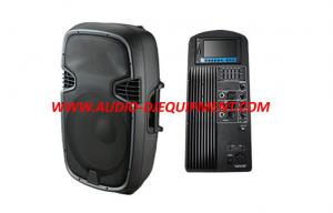 China 15 Inch PA Audio Speakers , 2 way pro audio dj equipment with MP5 player on sale