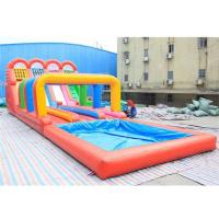 0.5mm PVC Inflatable Four lanes Colorful Slide , Inflatable Water Slide