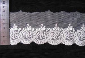 China Ткань шнурка сетки края вышитая вязанием крючком уравновесила согласно с крен 15Yds on sale