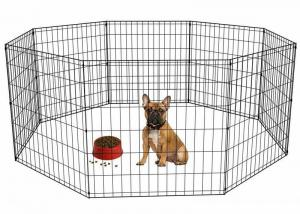 China Foldable Stainless Steel Mesh Box Portable Pet Rabbit Dog Play Pen Exercise Cage on sale