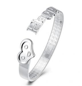 China fashion heart bracelet Unisex 925 sterling silver bracelet made in italy happy birthday gift ideas on sale