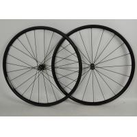 Full Carbon Road Bike Wheels 700c Black With NOVATEC Straight Pull Hub