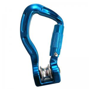 China Aluminum Gliding rock mountain climbing carabiner mountaineering swivel camping hook on sale