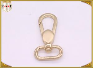 China Light Gold Color Swivel Snap Hooks With Oval D Ring For Key High Polished on sale