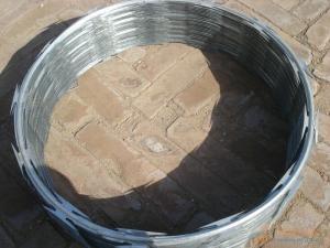 China 304 malla metálica cubierta 316 PVC del alambre de púas de la maquinilla de afeitar que cerca el azul galvanizado on sale