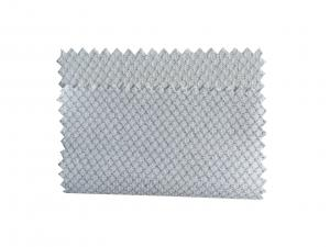 China 2.5mm Diamond Pattern ESD Knitted Fabric White, Blue, Green Weight 135GSM on sale
