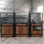 Painting Steel Black Powder Coated Bamboo Portable Horse Stables