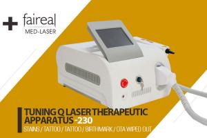 China Portable Q Switch Laser Tattoo Removal Equipment With Infrared Ray Indicator on sale