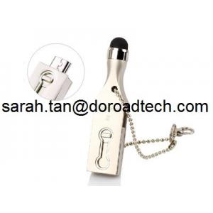China Mini Metal OTG USB Flash Drive with Touch Screen Stylus Pen Drive U-disk for Smart Phone on sale
