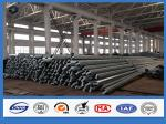 25FT Q345 Material Electric Power poles , galvanized steel post Once forming