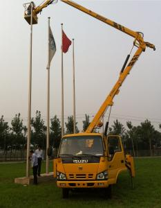China hydraulic aerial cage overhead working truck aerial platform vehicle on sale