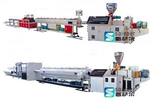 China Enengy Saving Pvc Pipe Extrusion Machine Double Screw Extruder 38CrMoAlA Screw Material on sale