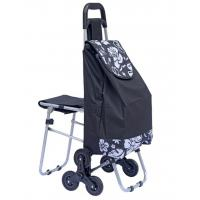 Stair Climbing Rolling Shopping Trolley Dolly Multipurpose Laundry Utility Cart with Seat-outdoor chair bag