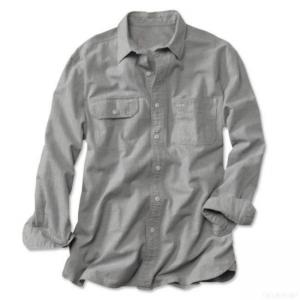 China Men's Shirts Washed-oxford Long-sleeved Shirts on sale