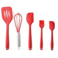 China High Quality Silicone Kitchen Utensil Set 5 Piece Cooking Tools Utensils Brush Kitchen Accessories on sale