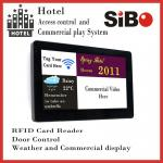 """China SIBO 7"""" Wall Mounting Android Industrial Panel PC with LED light bar, POE RJ45 port, NFC reader wholesale"""