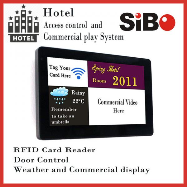 7 Inch In Wall Android Tablet PC With POE, Temperature Sensor For