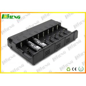 China 8 Slots Intelligent Lithium Ion Battery Charger Black For E Cigarettes on sale