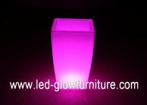 China Different Size PE Plastic LED Ice Bucket lights / flower pot , led wine cooler / Beer Barrel on sale
