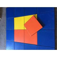 China Play Ground Outdoor Rubber Mats Multicolor Square Tile 500x500x(15-50)Mm on sale